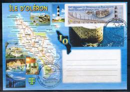 ATM, LISA2, 0.68€, PLI ,1er Jour, Phare De Chassiron, Fort Boyard, AG De PHILAPOSTEL, ST DENIS D'OLERON - 2010-... Geïllustreerde Frankeervignetten