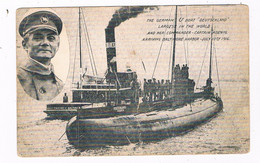 SCH-1127   German U-BOAT DEUTSCHLAND With Captain KOENIG - Sottomarini