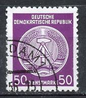 Allemagne Démocratique - Germany - Deutschland Service 1955 Y&T N°S26 Type 2 K13 - Michel N°D26I (o) - 50p Armoirie - Service