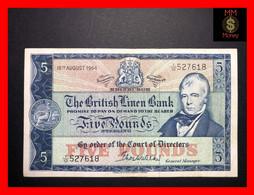SCOTLAND  5 £  18.8.1964  P. 167  British Linen Bank    VF+ - 5 Pounds