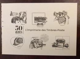 Gravure L'imprimerie Des Timbres Poste Issue Du Carnet 50 Ans Graves Dans L'histoire - Documenti Della Posta
