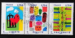 FRANCE 2016 - N° 5021-5022-5023 - Liberté - Egalité - Fraternité - Cachet à Date - Used Stamps
