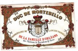 1 Carte Porcelaine Duc De Montebello Propiétaire De L'Ancien Vignoble De La Famille D'Orléans Mareuil-sur -Aÿ  Marne - Porcelaine