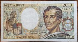 Billet 200 Francs Montesquieu 1987 FRANCE  H.049 - 200 F 1981-1994 ''Montesquieu''