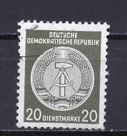 Allemagne Démocratique - Germany - Deutschland Service 1958-59 Y&T N°S50D Type 4 K13 - Michel N°D37A (o) - 20p Armoirie - Service