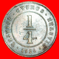 • GREAT BRITAIN: CYPRUS ★ 1/4 PIASTRE 1926 GEORGE V (1922-1926) UNCOMMON! LOW START ★ NO RESERVE! - Cipro