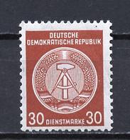 Allemagne Démocratique - Germany - Deutschland Service 1958-59 Y&T N°S50E Type 4 K13 - Michel N°D38A *** - 30p Armoirie - Service