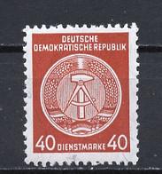 Allemagne Démocratique - Germany - Deutschland Service 1958-59 Y&T N°S50F Type 4 K13 - Michel N°D39A *** - 40p Armoirie - Service