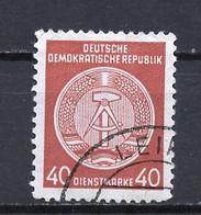 Allemagne Démocratique - Germany - Deutschland Service 1958-59 Y&T N°S50F Type 4 K13 - Michel N°D39A (o) - 40p Armoirie - Service