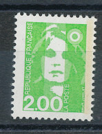 2621** Marianne 2f Vert Clair - Unused Stamps