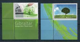 "Gibraltar - Mi.Nr. 1727 / 1728 - ""Europa: Umweltbewusst Leben"" ** / MNH (aus Dem Jahr 2016) - Gibraltar"