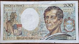 Billet 200 Francs Montesquieu 1987 FRANCE  U.050 - 200 F 1981-1994 ''Montesquieu''