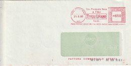 A19. Pisticci Scalo. 1990. Affrancatura Meccanica Rossa ... AMARO LUCANO ... - Marcophilie - EMA (Empreintes Machines)