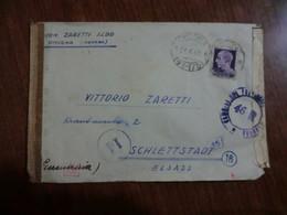 Lettera Censurata Del 1944 - Storia Postale