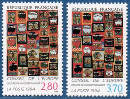 France 1994 European Council, Hundertwasser Faces Paintings 2 Values MNH 2011.2112 - Modern