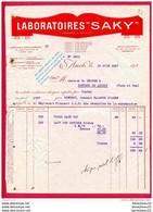 FACTURE (Réf:C154) (VIEUX PAPIERS) LABORATOIRES SAKY IZAUTE & DASSY -  AUCH - 1900 – 1949
