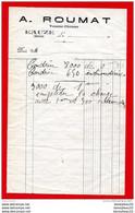 FACTURE (Réf:C127) (VIEUX PAPIERS -Documents Commerciaux) A. ROUMAT VANNIER-CHAISIER EAUZE (Gers) - 1900 – 1949