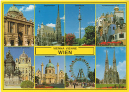 Wien Vienne : Multi-vues (Timbré + Voyagé Sans Cachet) - Ohne Zuordnung
