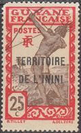 ININI   SCOTT NO. 9   MINT HINGED    YEAR  1932 - Unused Stamps