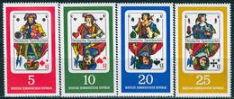 DDR - Mi 1298 / 1301 - ** Postfrisch (B) - Deutsche Spielkarten - Nuevos