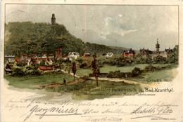 Gruss Aus Dorf Falkenstein Bei Bad Kronthal - Litho - Koenigstein