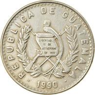 Monnaie, Guatemala, 25 Centavos, 1990, TTB, Copper-nickel, KM:278.5 - Guatemala