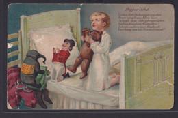 Ansichtskarte Künstlerkarte Prägekarte Kind Puppen Puppengebet Nach Buttkuhnen  - Non Classificati