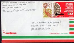 Mexico - 1986 - Lettre - Air Mail - Envoyé à Argentina - A1RR2 - Mexique
