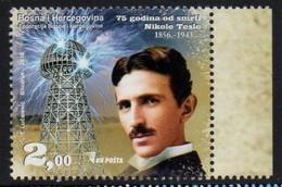 Bosnia And Herzegovina 2018. Nicola Tesla - 75th Anniversary Of Death.   MNH - Bosnia And Herzegovina