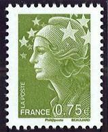 N° 4473 Marianne De Beaujard 2010  Faciale 0,75 € - Nuovi