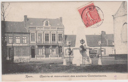 NORD    HEM      Mairie Et Monument Des Anciens Combattants. - Andere Gemeenten