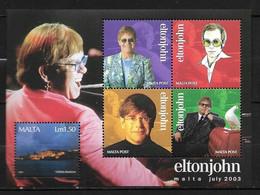 MALTE 2003 ELTON JOHN  YVERT N°B25 NEUF MNH** - Singers