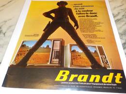 ANCIENNE PUBLICITE PASSER DU NOIR A LA COULEUR  BRANDT 1974 - Televisione