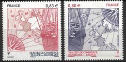 France 2013 Traité Avec Le Danemark 4817/4818** - Nuovi
