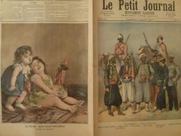 Journal Le Petit Journal 7 Mars 1891 15 L'Armée Coloniale Enfants Garçonnet Fillette - 1850 - 1899