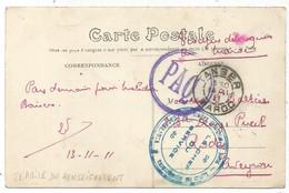 MAROC CARTE CASABLANCA + TANGER 14.11.1911 + LE CHEF DE SERVICE - Cartas
