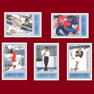 """2020 Overprint """"Olympic Champions. Lillehammer 1994"""" Stamps. Azermarka Perforated - Winter (Varia)"""