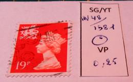 REGIONAL WALES SG W 50 / YT 1351 USED - Wales