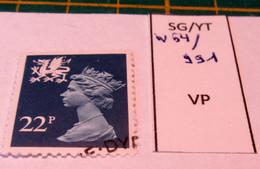 REGIONAL WALES SG W 54 / YT 991 USED - Wales