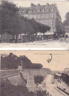 VIL- BREST EN FINISTERE  LOT DE 2 CPA  PETITS PRIX  TOUTES CIRCULEES  Place Tour Auvergne Rampe Acces Port  Cachet Brest - Brest