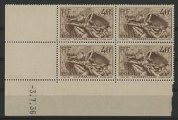 "N° 315 Coin Daté Du 3/7/36. Type ""Marseillaise"". Neuf * (MH). Voir Description - 1930-1939"
