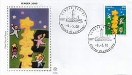 Fdc Filagrano Gold: EUROPA 2000 No Viaggiata - F.D.C.