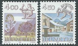 1984 SVIZZERA SEGNI ZODIACALI MNH ** - RD21-3 - Unused Stamps