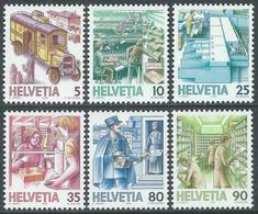1986 SVIZZERA TRASPORTI POSTALI MNH ** - RD21-7 - Unused Stamps