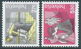 1989 SVIZZERA L'UOMO E I SUOI MESTIERI MNH ** - RD21-7 - Unused Stamps