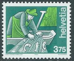 1990 SVIZZERA L'UOMO E I SUOI MESTIERI MNH ** - RD21-7 - Unused Stamps