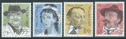 1990 SVIZZERA PITTORI E SCRITTORI CELEBRI MNH ** - RD23-2 - Unused Stamps