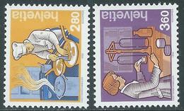 1992 SVIZZERA L'UOMO E I SUOI MESTIERI MNH ** - RD21-7 - Unused Stamps