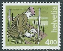1994 SVIZZERA L'UOMO E I SUOI MESTIERI MNH ** - RD23-5 - Unused Stamps
