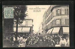 CPA Paris-Belleville, Rue Des Bois - Rue Compans - Ohne Zuordnung